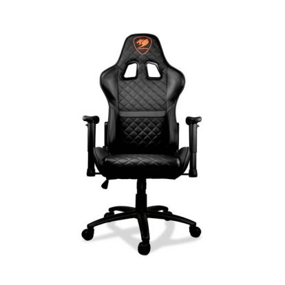 COUGAR Armor One (Black) 180 degree continuous recling full steel frame 260 lbs capacity gaming chair