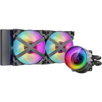 DeepCool CASTLE 240EX RGB AIO Liquid CPU Cooler, Anti-Leak Technology, Two MF120GT A-RGB PWM Fans, Wire Controller and 5V-D-G 3-Pin Motherboard Connector, TR4/AM4 Supported