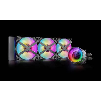 DeepCool CASTLE 360EX RGB AIO Liquid CPU Cooler, Anti-Leak Technology, Three MF120GT A-RGB PWM Fans, Wire Controller and 5V-D-G 3-Pin Motherboard connector, TR4/AM4 Supported