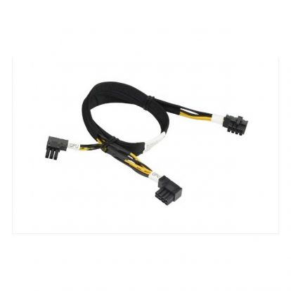 Supermicro CBL-PWEX-0790 57cm 8-Pin Right Angle CPU to 8-Pin + 6-Pin Right Angle PCIe GPU Cable For Geforce 1