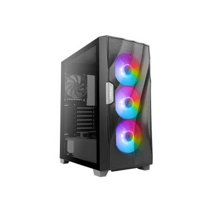 Antec Dark Phantom DF700 FLUX, F-LUX Platform, 3 x 120 mm ARGB, 1 x 120 mm Reverse & 1 x 120 mm Fans Included, three-Dimensional Wave-Shaped Mesh Front Panel & Tempered Glass Side Panel Mid Tower ATX Gaming Case