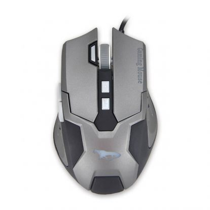 iMicro Cobra IM-COBZ2 USB Wired Optical Mouse (Black&Space Gray)