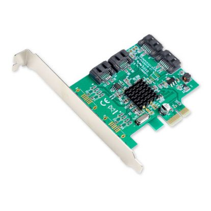 SYBA SI-PEX40064 4-Port SATA3 PCI-Express x1 Controller Card w/ Full and Low Profile Brackets