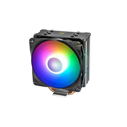 DEEPCOOL GAMMAXX GT A-RGB, CPU Air Cooler, SYNC A-RGB Fan and Black Top Cover, Cable or Motherboard Control Supported, 4 Heatpipes, 120mm A-RGB Fan, Universal Socket Solution