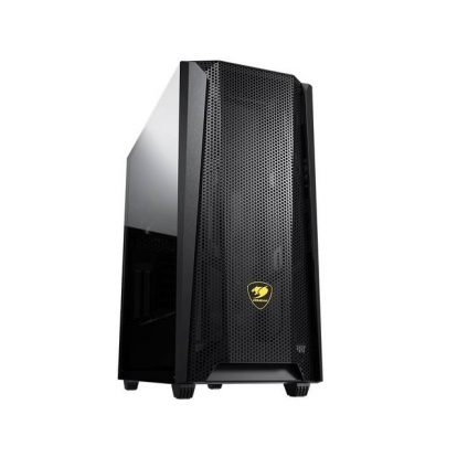 Cougar MX660 Mesh Mid-Tower Case with Mesh Front Panel and Clear Tempered Glass Left Panel