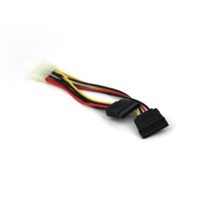 VCOM CE352 4Pin PC Power to 2x SATA Power Splitter Cable