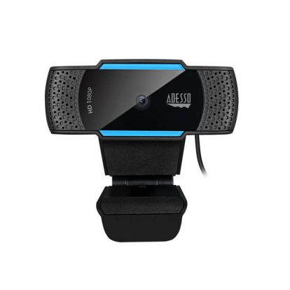 Adesso CYBERTRACK H5 1080P HD Auto Focus Webcam with Built-in Dual Microphone, Tripod mount and Privacy Shutter Cover