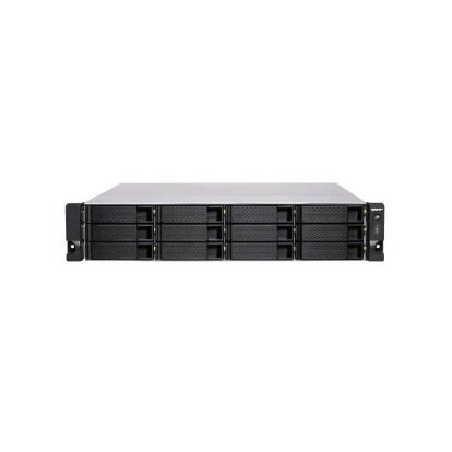 QNAP TS-1886XU-RP-D1622-8G-US Intel Xeon D-1622 2.6GHz/ 8GB DDR4/ 18 SATA/ USB3.2/ Rackmount NAS for Virtualization and Data-intensive Enterprise Applications
